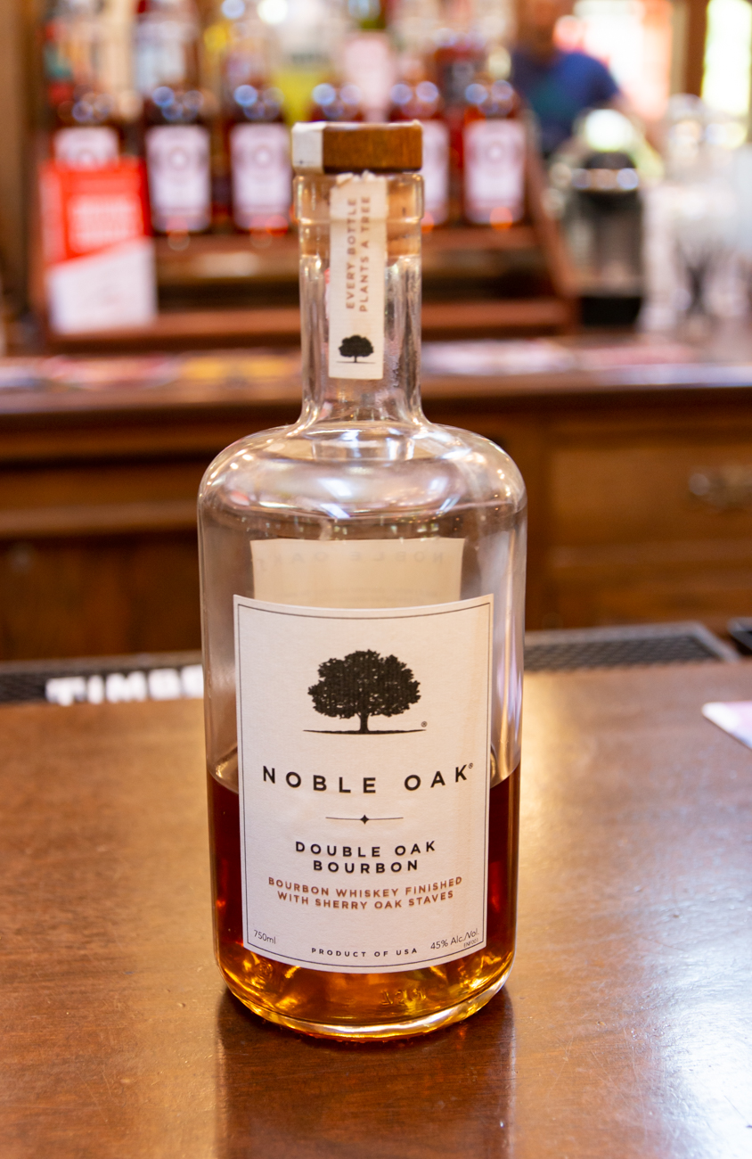 Noble Oak, a double oaked bourbon / Image: Elizabeth Lowry // Published: 10.31.19