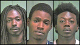 Police identify 3 arrested in attempted pawn shop break-in, 4th suspect still on run