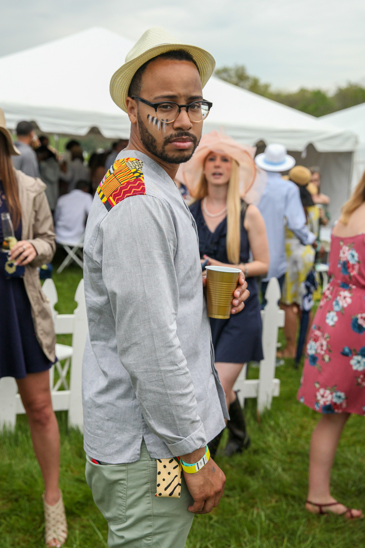 At Gold Cup:{ }We're totally here for this unconventional men's look! (Amanda Andrade-Rhoades/DC Refined)