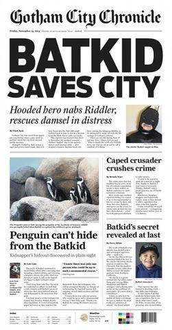 5-year-old Miles Scott, aka 'Batkid' is fighting leukemia. But on Friday, he's fighting crime as the city of San Francisco banded together to make his wish come true. The San Francisco Chronicle issued a special paper for the event.