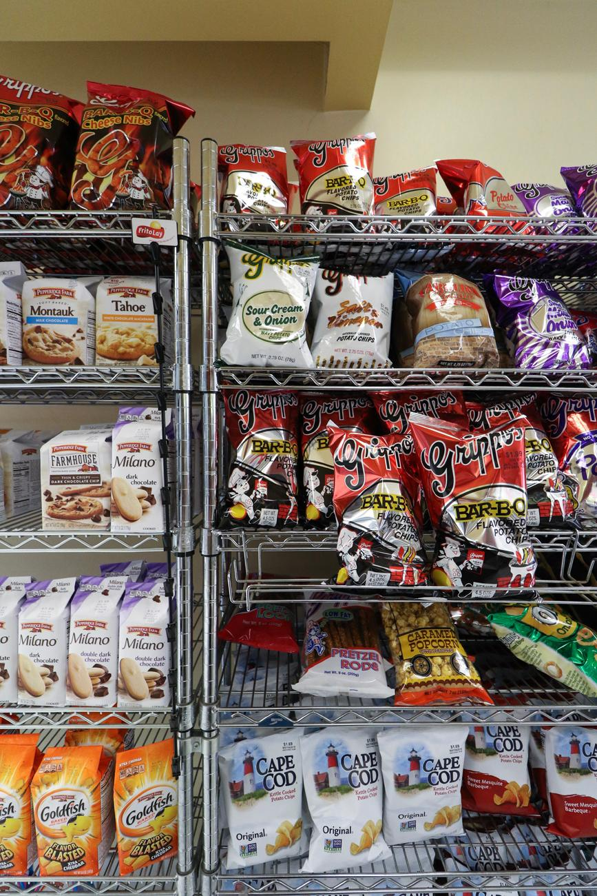 The store offers a heaping selection of snacks, including Cincinnati's own Grippos, of course.{ }/ Image: Ronny Salerno // Published: 4.25.19