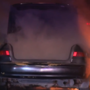 Car catches on fire on Highway 180 in Fresno