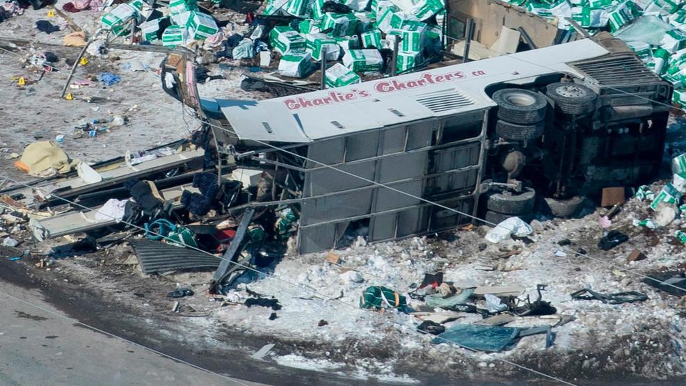 Canada reels 15 die when truck hockey team bus collide WJLA