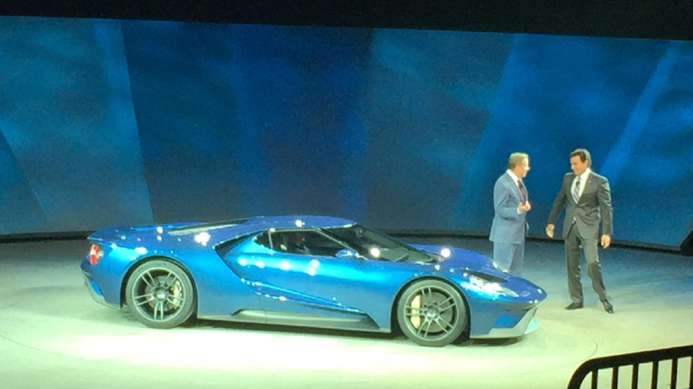 Ford Gt Revealed At The  North American International Auto Show Sinclair Broadcast Group Jill Ciminillo
