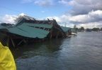 House boat collapses off of Willow Grove - Cowlitz County Sheriff's Office photo.jpg