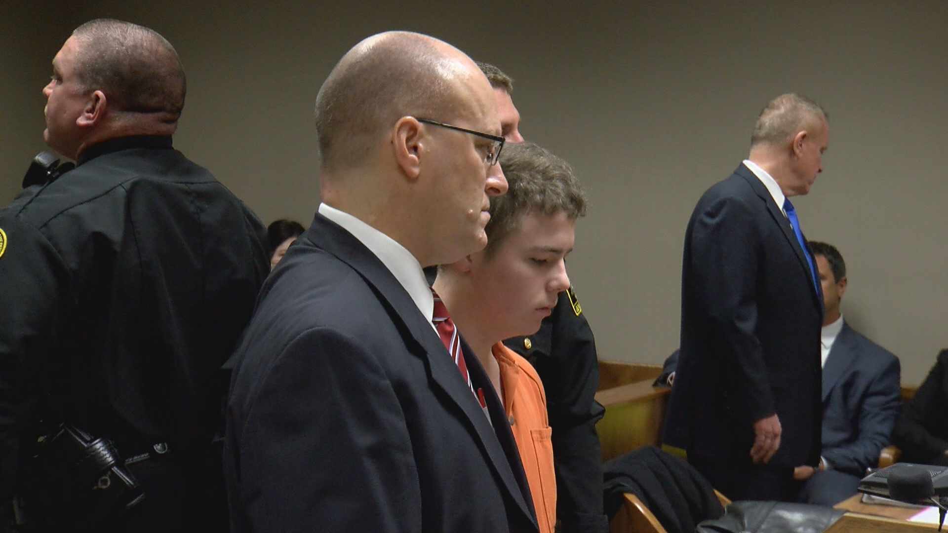A state evaluation found them competent, but their lawyers want another exam by a different expert. A Flint-area judge approved the request Thursday for Kyle Anger (pictured), Mark Sekelsky and Trevor Gray.{&amp;nbsp;}(Photo: WEYI/WSMH)<p></p>