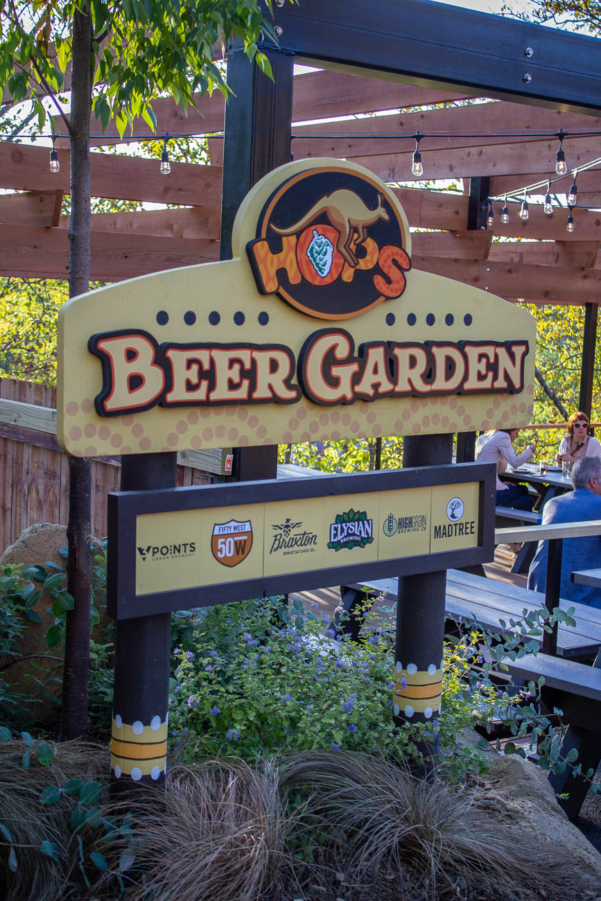 The Cincinnati Zoo & Botanical Garden is now home to a craft beer garden called Hops. The preview of the zoo's latest addition took place on Tuesday, October 8. Local brews from MadTree, Fifty West, Braxton, Three Points Urban Brewery, and HighGrain Brewing Co. are all on tap with some wines and national beers available, too. The garden will be open to guests during the annual beer tasting fundraiser, Zoo Brew on Thursday, October 10, and it opens to the public on Friday, October 11. / Image: Katie Robinson, Cincinnati Refined // Published: 10.9.19