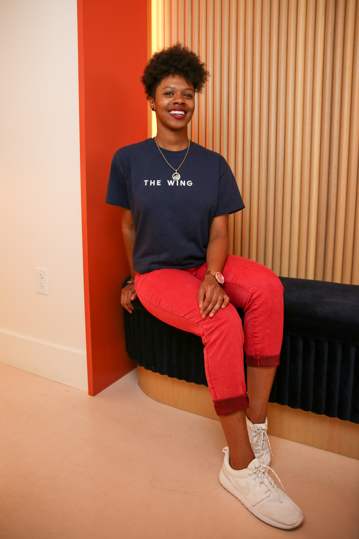 "Toni White spends most of her time working at The Perch. Her best memory at The Wing was their recent Mother's Day event. ""It was just fun seeing all the moms with their children having fun and dancing."" (Amanda Andrade-Rhoades/DC Refined)"