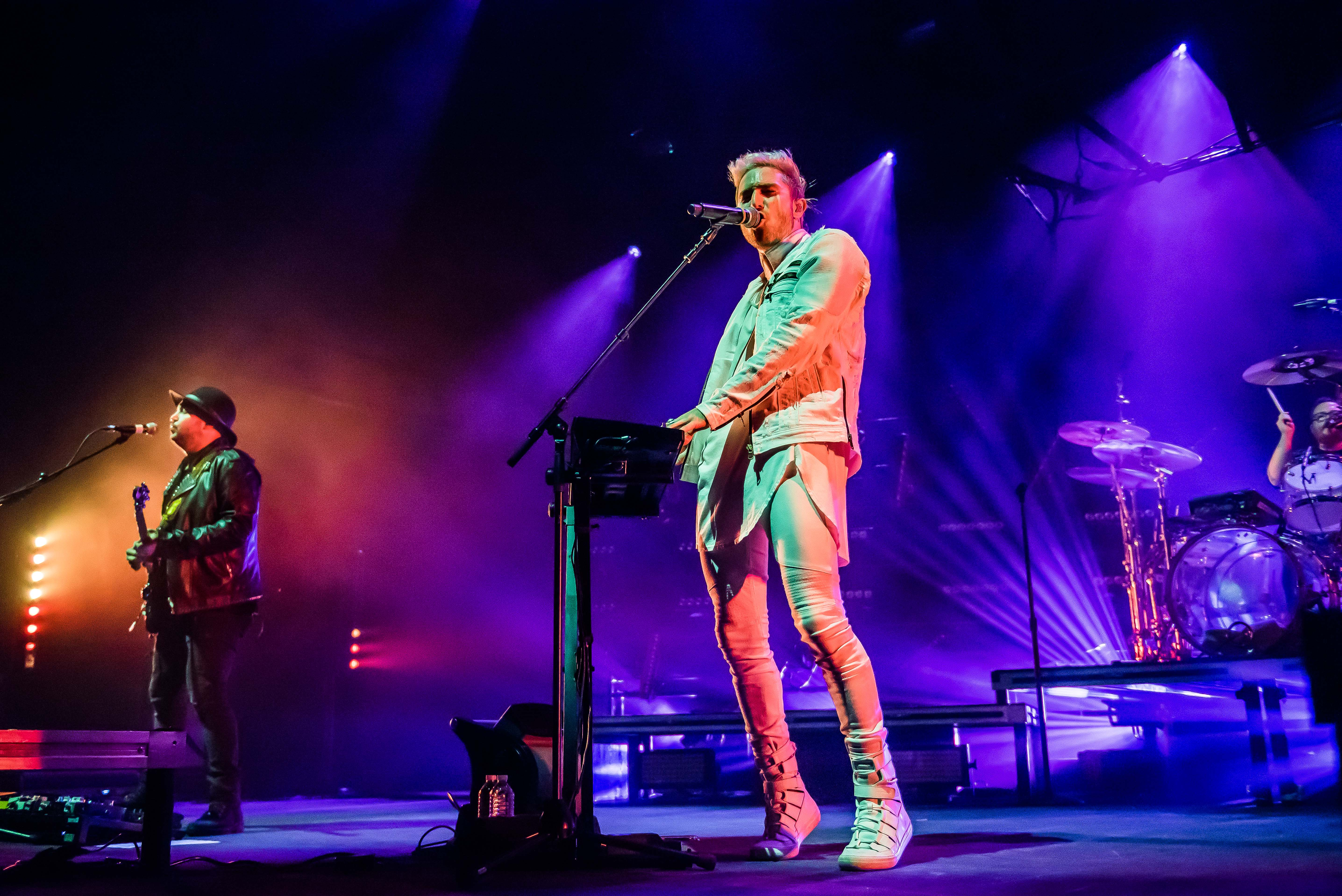 After a year and a half off the road, Cincinnati-based rock band WALK THE MOON kicked off their Press Restart Tour on Friday,  January 12 at The Anthem. The tour will hit 27 cities, and celebrates their third major label release, 2017's What If Nothing. Company of Thieves opened the show. (Image: Joy Asico)