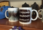 Bigfoot coffee mugs at Karen's Unique Gifts in Mountain.JPG