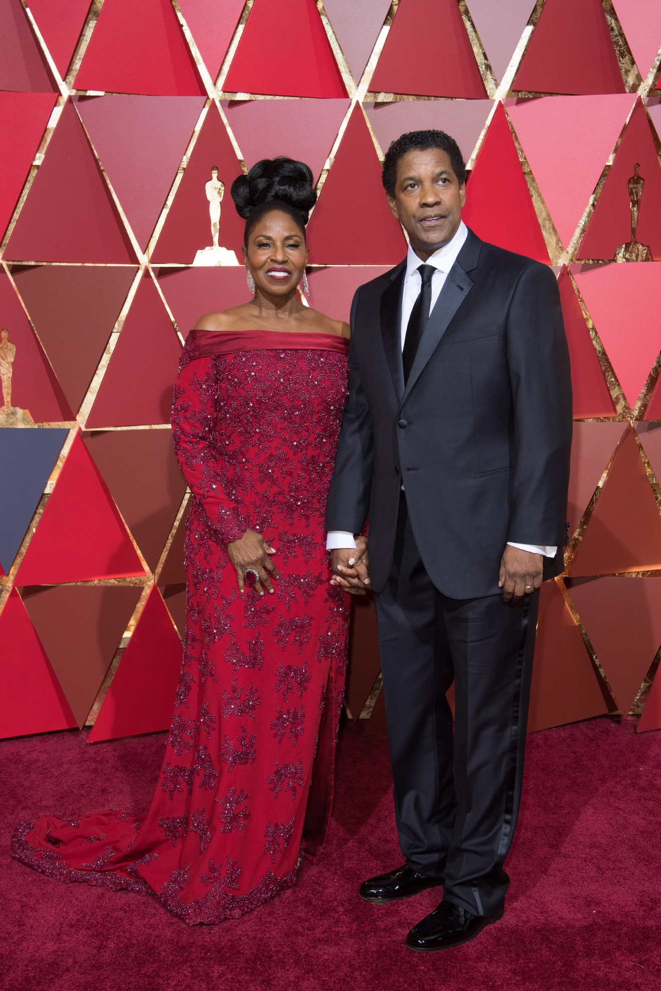 #18: Denzel Washington. Power couple alert! You can tell these two have done this before. (Image: AMPAS)