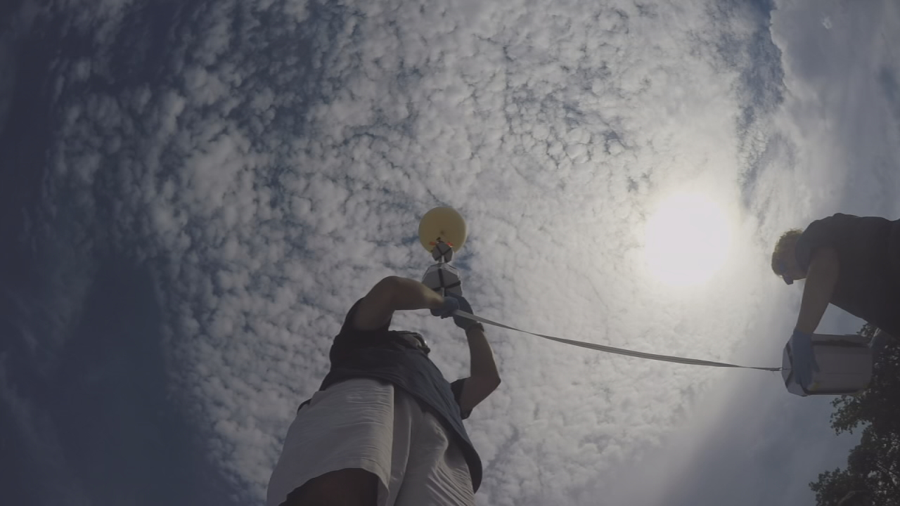 Southwestern Community College has teamed-up with NASA to provide a great view of August's solar eclipse via a high-altitude balloon. (Photo credit: WLOS Staff)