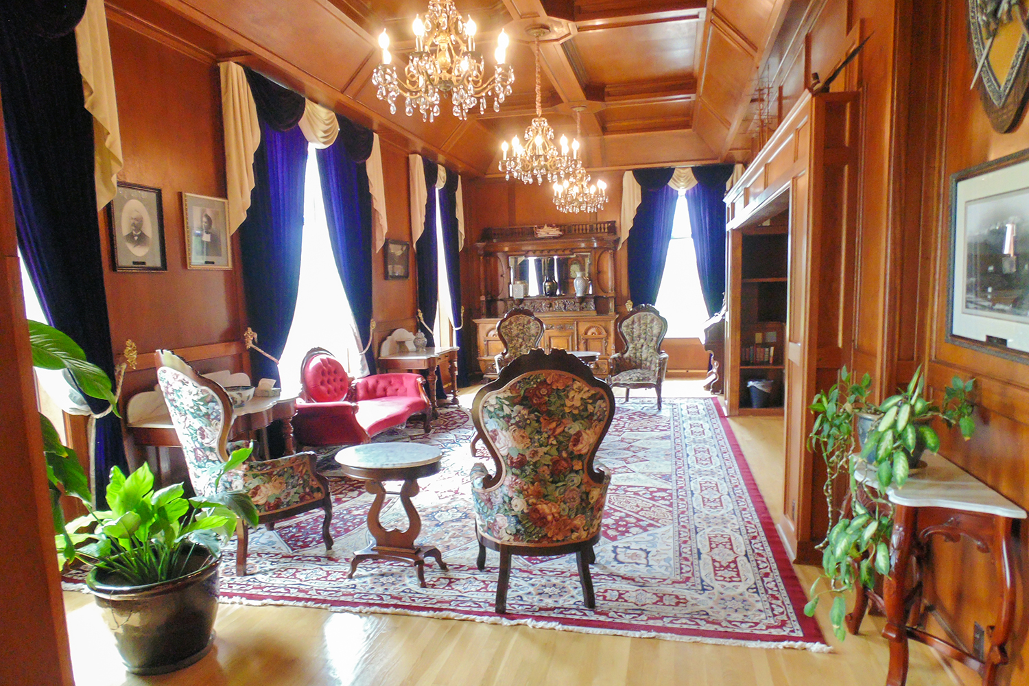 Manresa Castle Library. In 1925, a Seattle attorney purchased the home as a vacation home for nuns, which then turned into a training college for Jesuit priests. Three years later, they added a chapel, sleeping rooms and an elevator. Today, the interior resembles a warm, inviting library. (Photo courtesy of Manresa Castle)