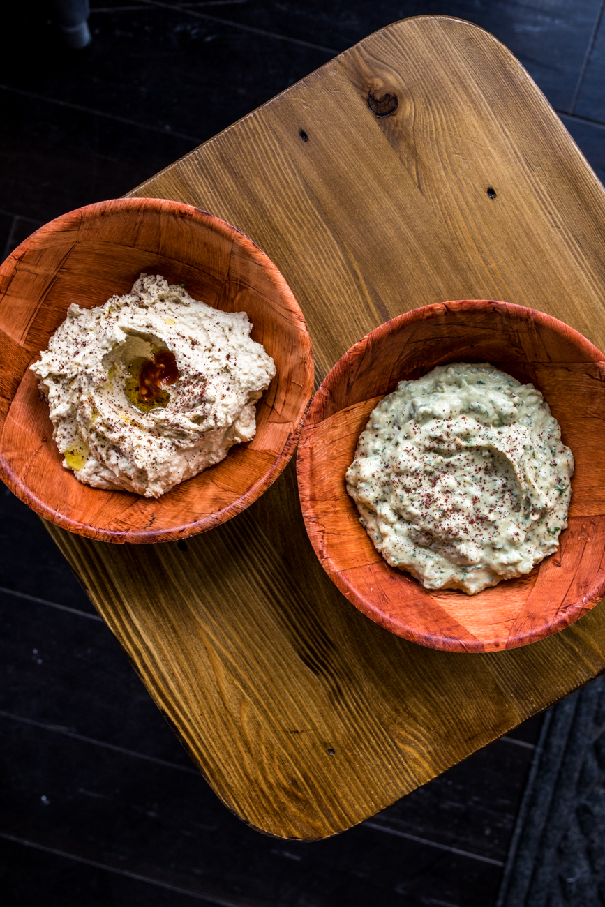 Hummus and Baba Ganoush / Image: Catherine Viox // Published: 1.26.20